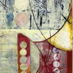 "Dot, Dot, Dot,  Encaustic on Canvas, 72""h x 32""w, 2005"